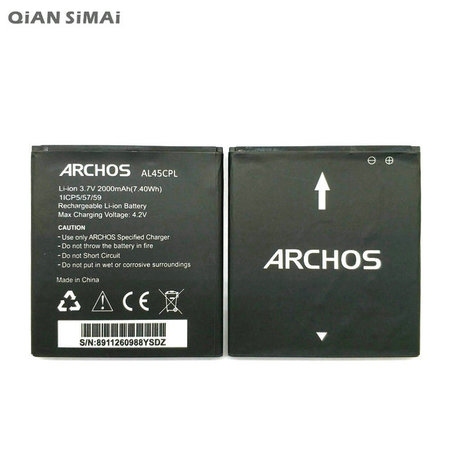 1c53b607e93974 QiAN SiMAi 1pcs 100% high quality AL45CPL 2000mAh Battery For ARCHOS  AC45CPL phone +Tracking Code