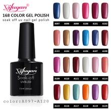 Yifuyan 7.5Ml Nail Art Gel  Gel Polish Soak Off LED UV Gel Varnish Manicure whole sale 97-120 color