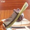 YBF MID-Зуб Зеленый сандалового дерева Круглее Ручки Деревянные Расчески Бразильские Здорового Антистатической Щетки Инструменты Лечение Hairloss