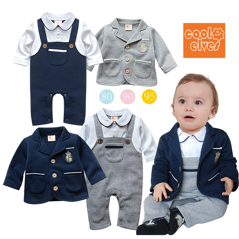Autumn Winter Jumpsuit Newborn Baby Boy Romper+Coat Gentleman Sets Tuxedo Suit Bow Kid's de bebe Clothing Roupa Clothes gentleman baby boy clothes black coat striped rompers clothing set button necktie suit newborn wedding suits cl0008