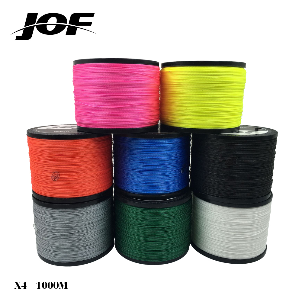 NEW JOF ORIGINAL Series Multifilament PE Braided Fishing Line 4 Strands Braid Wires String Japan Material 1000m 18-80 LB new gevlochten draad braided fishing line wire 8 strands 1000m pe 100