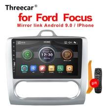 Автомобильный радиоприемник 2020, мультимедийный плеер с сенсорным экраном BT Mirror Link Android для Ford Focus MT 2004 2005 2006-2008 2009 2010 2011 2 DIN