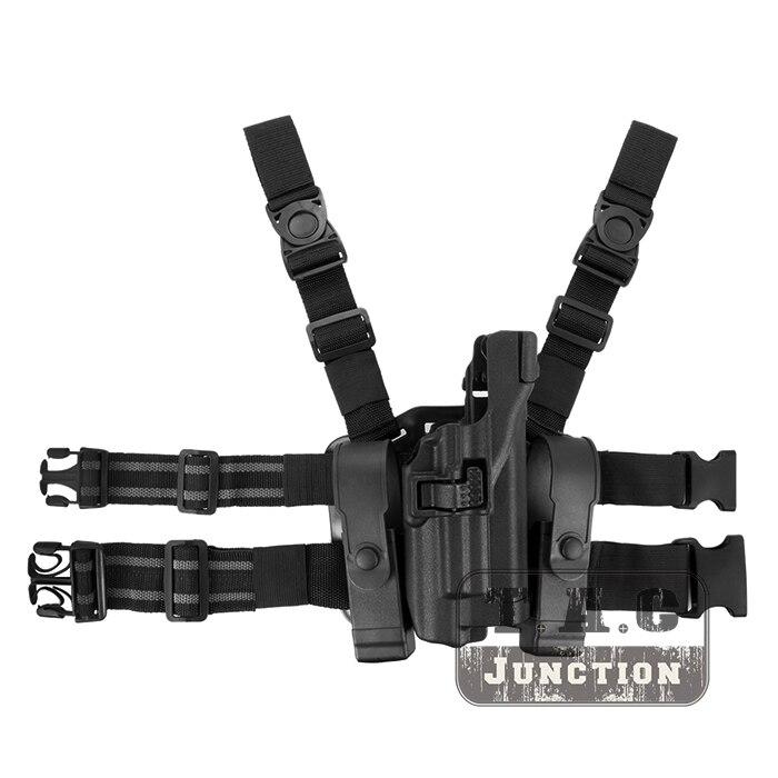 Tactical Serpa Level 3 Light Bearing Auto Lock Duty Right Hand Drop Leg Pistol Holster for Colt 1911