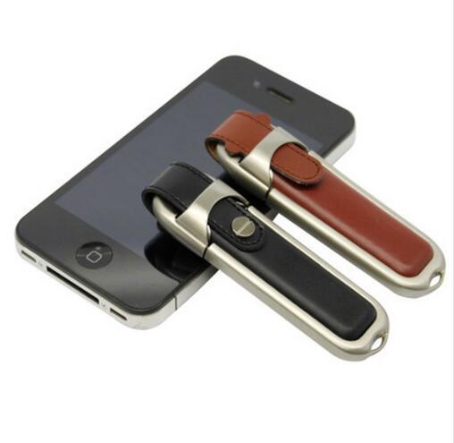 Unidade de armazenamento Hot New Couro Real Capacidade USB stick 16/32/64/128/256 GB Dom Pen Drive USB 2.0 Flash vara Disco flash USB unidade