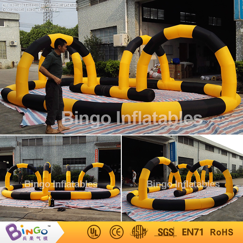 Bingo Inflatables Inflatable Go Kart Race Track For Sale 26ft.*16ft. toy kids play outdoor sports games go kart race air track for balls inflatable race track