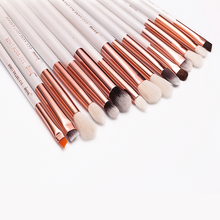 Jessup Pearl White/Rose Gold Professional Makeup Brushes Set Make up Brush Tools kit Eye Liner Shader natural-synthetic hair