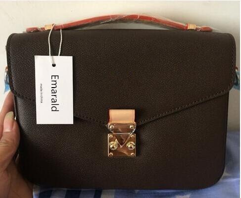 все цены на Emarald 2018 new fashion 1:1 quality women handbag metis bag genuine leather leather with good quality FREE SHIPPING онлайн