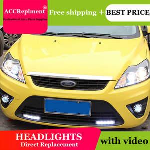 Pro For Ford Focus Xenon Headlights   Bi Xenon Lens Led Angel Eyes