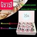 12 colores Espejo Polvo textura Metálica Pigmento Brillo de Uñas Nail Art Chrome 12 colores Magia Mira Uñas Gradiente