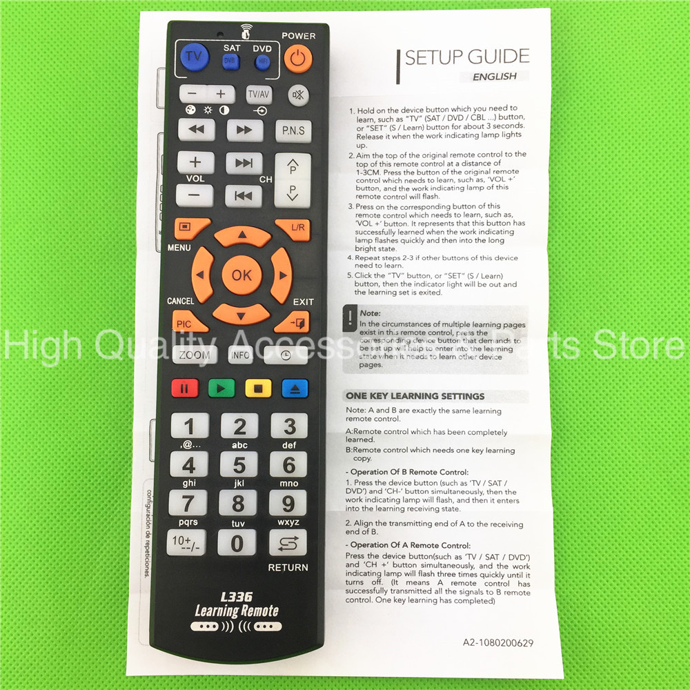 US $2 88 |Universal Smart Remote Control Controller With Learning Function  For PHILIPS SAMSUNG LG SONY PANASONIC SHARP TCL HISENSE TV-in Remote