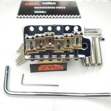 جيتار كهربائي من نوع ST بتصميم كلاسيكي من ويلكنسون مع نظام تريمولو ، جيتار من الكروم الفضي لجيتار سترات WOV01