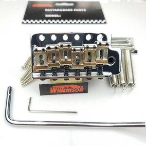 Image 1 - جيتار كهربائي من نوع ST بتصميم كلاسيكي من ويلكنسون مع نظام تريمولو ، جيتار من الكروم الفضي لجيتار سترات WOV01