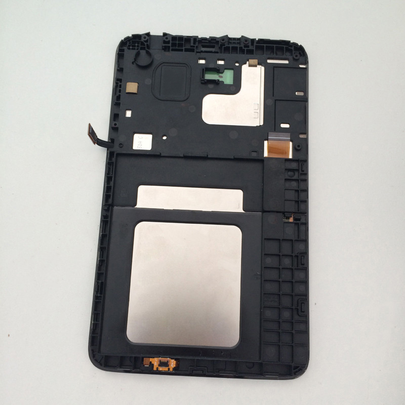 Touch screen Sensor Digitizer + LCD Display Monitor Screen Assembly With Frame For Samsung Galaxy Tab 3 Lite 7.0 SM-T110 T110 for samsung galaxy s4 active i9295 blue lcd touch digitizer screen frame assemblyy