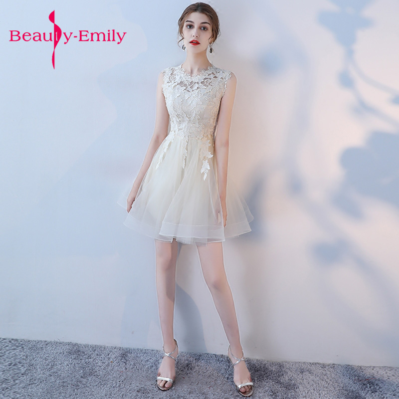 Junior robe de bal dentelle nouvelle robe de soirée beaucoup de couleur disponible dentelle courte robe de soirée formelle 2018 robes de bal vestido de festa - 3