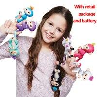 Lensple Fingerlings Interactive Baby Monkeys Smart Colorful Fingers Llings Smart Induction Toys Best Birthday Gifts