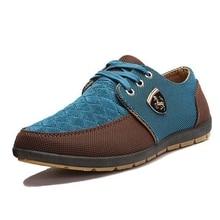 Nice Spring Brand Men Shoes Casual Lace Up Canvas Men Flat Shoes Low Breathable Suede Classic Casual Men Shoes EU Size 28-66