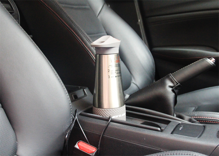 ФОТО GUB-ZN20 car heating cup double stainless steel cup and vacuum insulation technology mulfuntional hot cup/mug car burning bottle