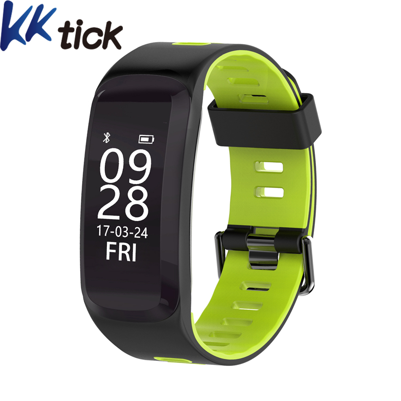 KKTICK F4 Smart WristBands IP68 Bluetooth 4.0 Sport Smart Bracelet Heart Rate Monitor Blood pressure Oxygen Outdoor Altitude UV
