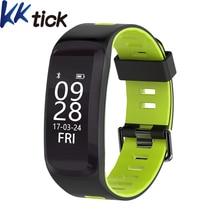 F4 KKTICK Pulseiras Inteligente IP68 Bluetooth 4.0 Esporte Pulseira Heart Rate Monitor de pressão Arterial Inteligente Oxigênio Altitude Ao Ar Livre UV