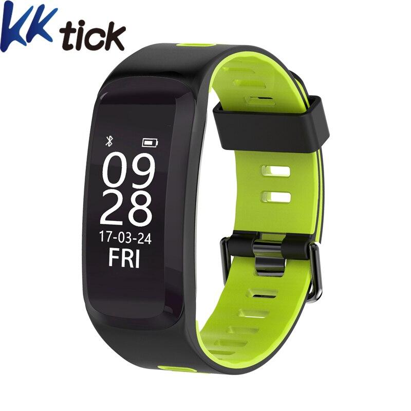 KKTICK F4 Smart WristBands IP68 Bluetooth 4.0 Sport Smart Bracelet Heart Rate Monitor Blood pressure Oxygen Outdoor Altitude UV