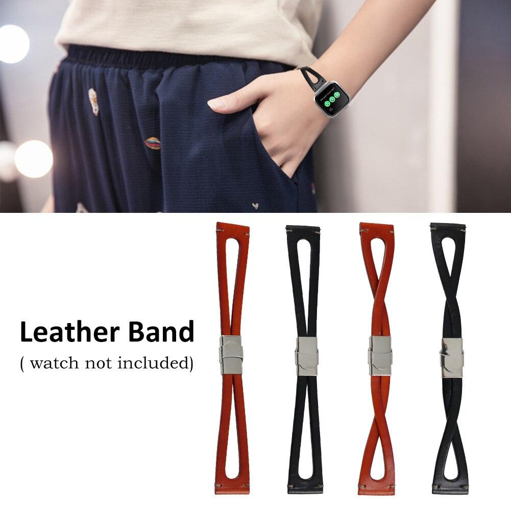Nouveauté innovante Bracelet de remplacement en cuir Bracelet Bracelet pour Fitbit Charge Versa montre intelligente Bracelet de montre