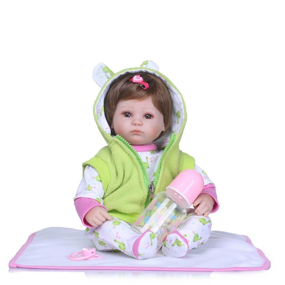 NPKCOLLECTION Silicone bambini rinati lifelike 18 reborn baby doll con nuovo lavoro a maglia vestiti boneca brinquedos giocattoli per i bambiniNPKCOLLECTION Silicone bambini rinati lifelike 18 reborn baby doll con nuovo lavoro a maglia vestiti boneca brinquedos giocattoli per i bambini