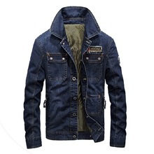 M~4XL Retro Spring Denim Jackets Pockets 2017 NEW Mens Jeans Coats Autumn Jackets Brand AFS JEEP Thicken Denim Coat Outwear Male