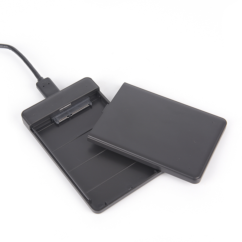 Hard Drive USB 3.0 SATA External 2.5 inch HDD SSD Enclosure Box Transparent Case