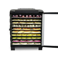 Commercial Electric Dried Fruit Dehydrator Snack Pet Food Dryer Vegetable Herbs Meat Air Drying Machine 10 Trays 110V 220V Dehydrators     -