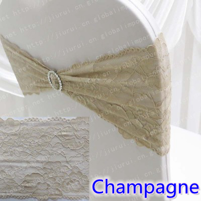 champagne banquet chair covers navy blue sashes lace with round buckles for cover colour sash decoration wedding and hotel