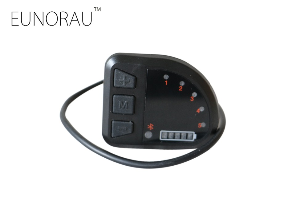 Free shipping electric bike 36V DPE-12 LED display for Bafang BBS 36V250W/350W/500W mid drive motor with Bluetooth 2018 new 36v250w bafang8fun elektrische fiets mid motor elektricke kolo mid motora bicicleta electrica mediados de motor