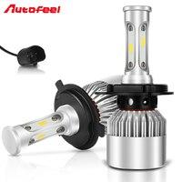 Autofeel 9007 HB5 COB Led Headlight Bulbs Kit Hi Lo Beams Car Headlamp 72W 16000LM 6000K