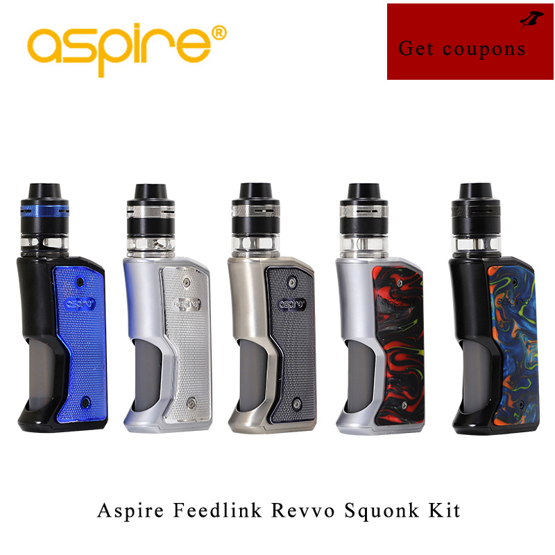 Originale Aspire Feedlink Revvo Squonk Kit con 80 w revvo Squonk Mod 2 ml Revvo Boost Vaporizzatore Serbatoio ARCO Bobina aspire Vape Kit