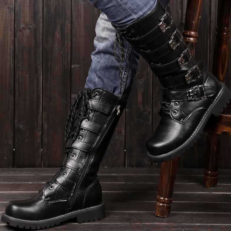 Aliexpress.com : Buy Fashion Plus Size High top Men Boots Five ...
