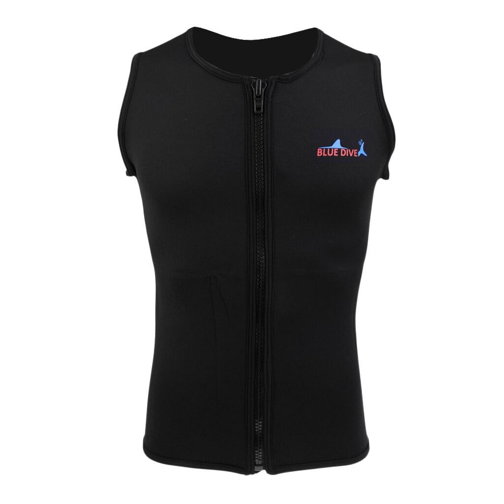 2mm Men Wetsuit Vest Sleeveless Neoprene Zipper Half Body Bathing Diving Suit for Scuba Diving Surfing Rashguard S M L XL XXL