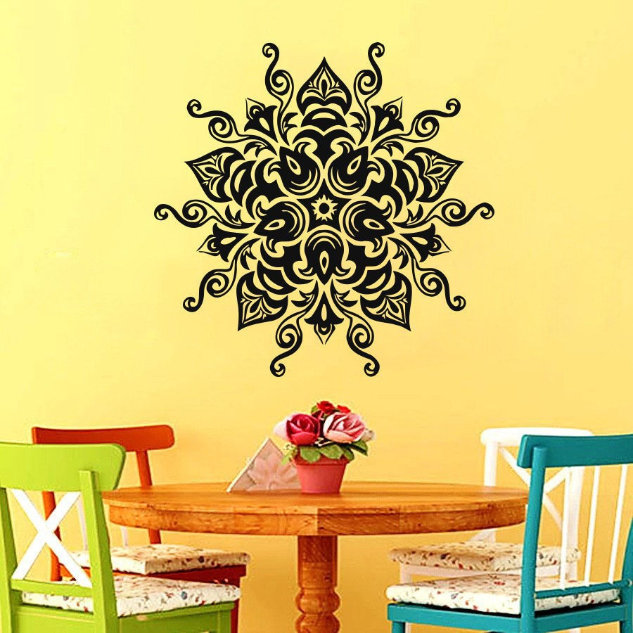 Online Shop In Sale Vinyl Wall Art Decals Namaste Om Mandala ...