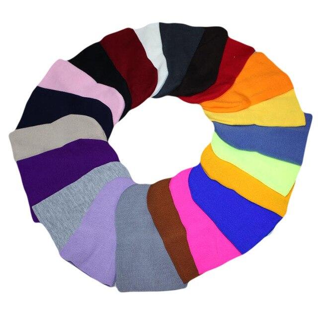 e7175ca88939b4 2018 New Winter Hats Unisex Women's Cotton Solid Warm Hot Sale HIP HOP  Knitted Hat Female For Men Women Caps Skullies Beanies