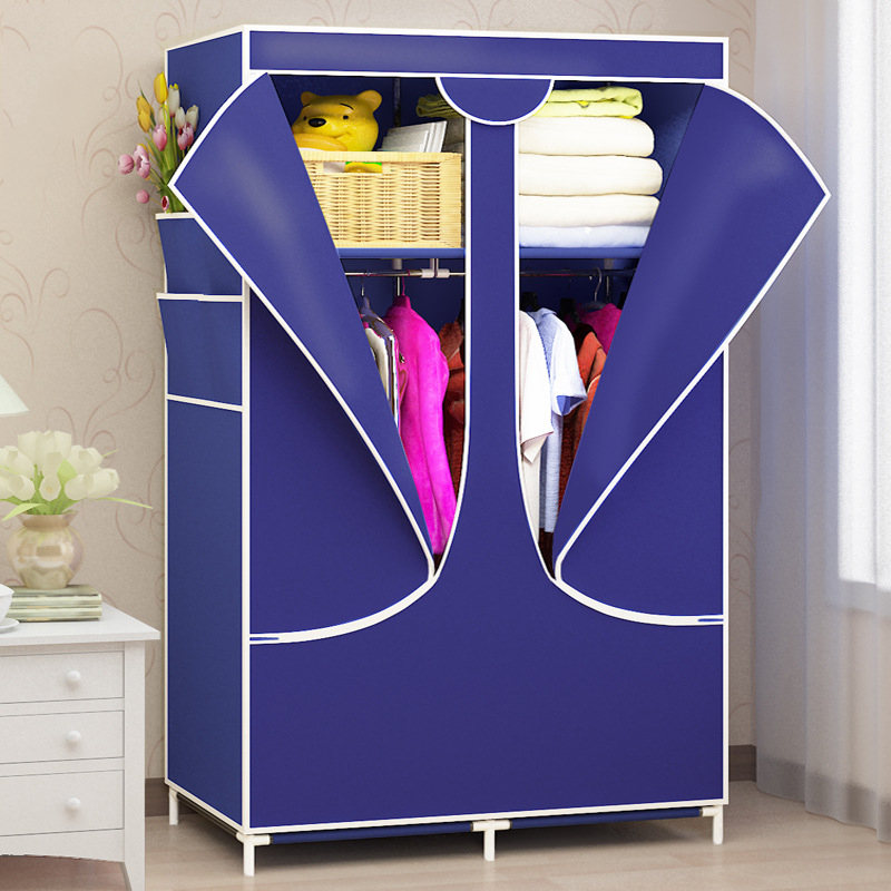 Simple Wardrobe Assembly Nonwoven Dustproof Moisture proof Bedroom Storage Organizer Zipper Clothing Closet for Home Furniture in Wardrobes from Furniture