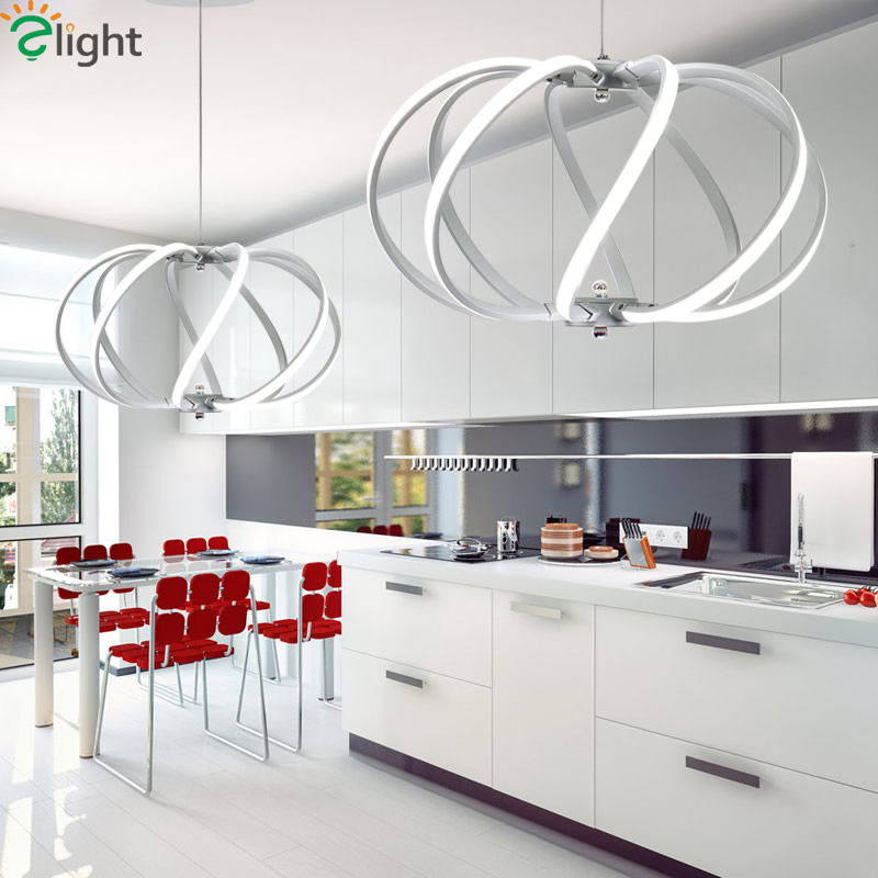 Modern Simple Aluminum Led Pendant Lights Acrylic Dining Room Dimmable Led Pendant Lamp Living Room Pendant Light Hanging Lights tiffany mediterranean dining room pendant lamps european style simple triple staircase modern living room lamp pendant lights