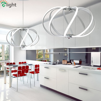 Modern Simple Aluminum Led Pendant Lights Acrylic Dining Room Dimmable Led Pendant Lamp Living Room Pendant Light Hanging Lights