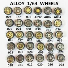 4pcs/set 1/64 Alloy Car Model Modified Tire Metal Wheel Hub Random Style Sipping