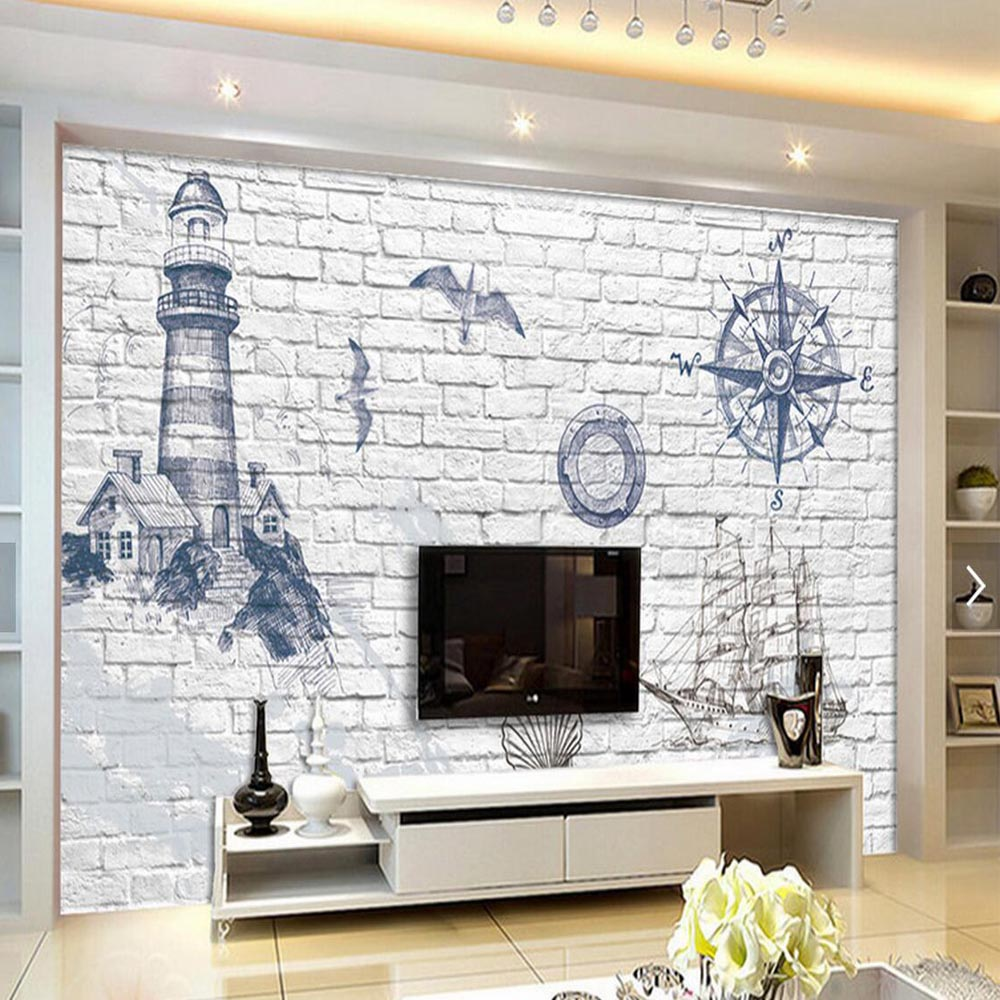 Lighthouse pharos photo wall mural minion wallpaper abstract lighthouse pharos photo wall mural minion wallpaper abstract wallpaper beacon for living room tv background 3d brick wallpaper in wallpapers from home amipublicfo Images