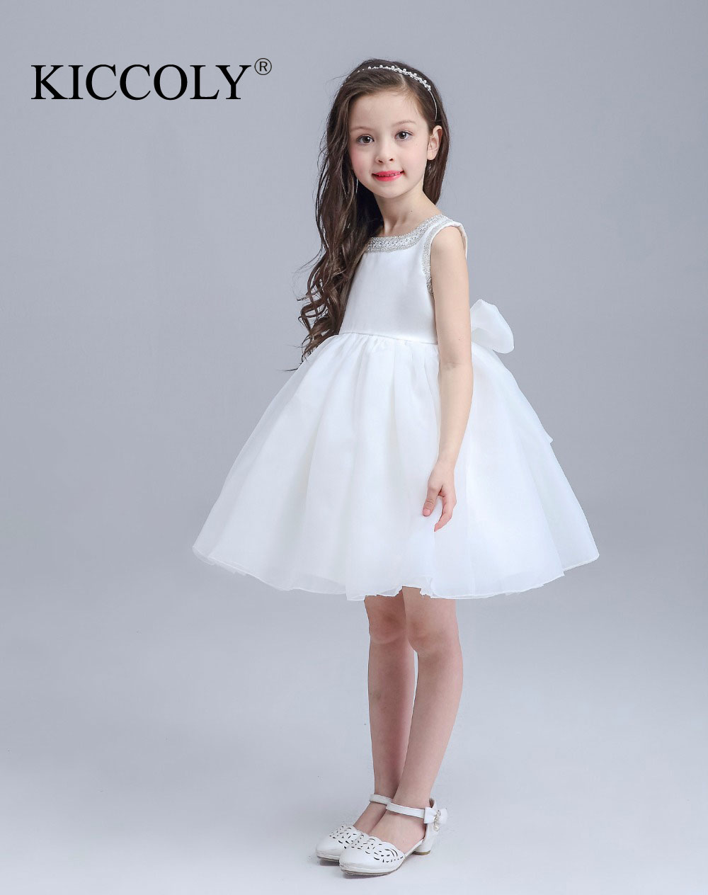 Toddler Glitz Pageant Dresses For Wedding 2016 First Communion Dresses Pageant Ball Gowns for Flower Girls vestidos de comunion new white and blue lace flower girl dresses birthday party pageant prom glitz frocks first communion ball gowns for juniors