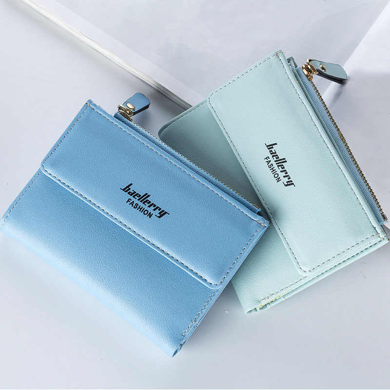 ... Hot Fashion Women s Purse Thin Zipper Women s Wallet Ladies PU Leather  Purse Female Small Mini Card ... da0a17966026