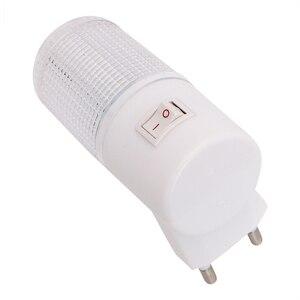 Image 5 - 비상 조명 벽 램프 홈 조명 LED 야간 조명 EU 플러그 침대 옆 램프 벽 마운트 에너지 효율적인 4 LED 3W