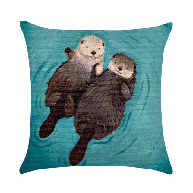 Gajjar Federa Decorativa Coperte e Plaid Caso Cuscini Carino Animali Lontra di C