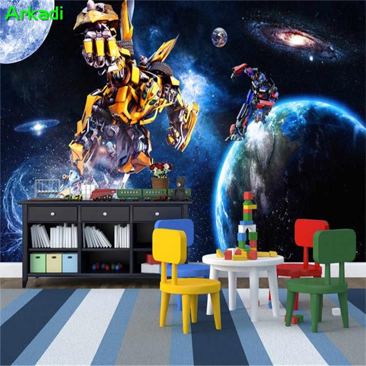 Пользовательские Бар Кафе обои Трансформеры Фото Гостиная спальня ТВ фон стены Мальчики картина для украшения помещений