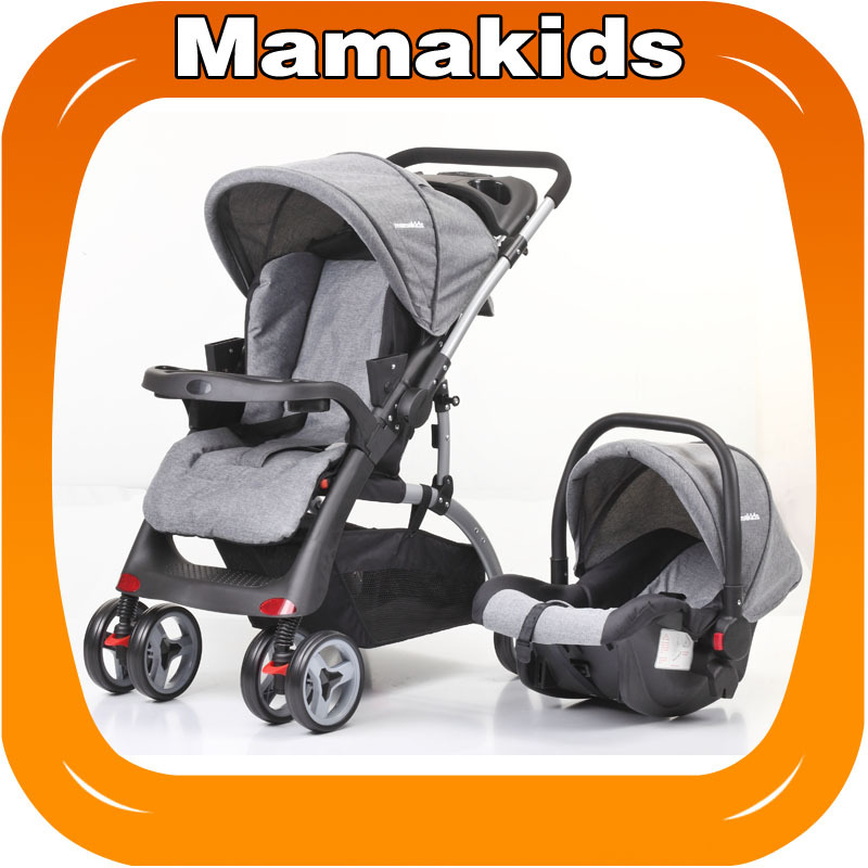 Multifunctional reclining can sit lightly fold baby stroller one step brake safety stroller baby supplies