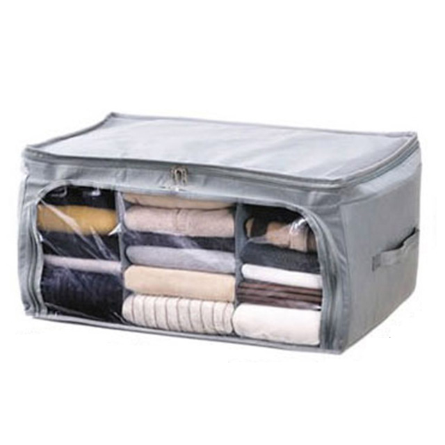 High Quality Large Pragmatic 62L Foldable Bamboo Charcoal Non Woven Cloth Fibre Home Storage Bag Container  sc 1 st  AliExpress.com & High Quality Large Pragmatic 62L Foldable Bamboo Charcoal Non Woven ...