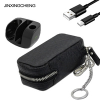 JINXINGCHENG Carrying Pouch Bag Leather Case for iqos 3.0 Fast Charging for iqos 3.0 PU Leather Holder Case Zipper Box